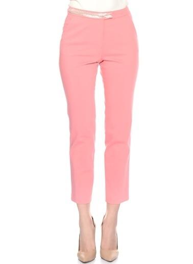 House Of Camellia Bel Detaylı Boru Paça Pantolon Pembe